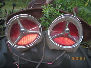 Antique 1957 Oldsmobile Pair Tail Light Assembly Super 88 98 Rocket