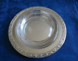 Meadowbrook Aka Heather 1936 Wm A Rogers Small Round Tray With Glass Liner