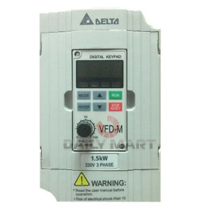 New In Box Delta Vfd015m23a Frequency Inverter Drive 3phase 220v 1 5kw 2hp