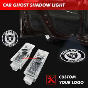 Car Door Oakland Raiders Logo Led Laser Ghost Projector Shadow Light Fit For Bmw