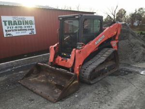 2014 Kubota Svl90 2 Compact Track Skid Steer Loader Cab 2spd High Flow 1500 Hrs
