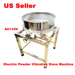110v Stainless Steel Electric Powder Vibration Sieve Machine Screener Deck