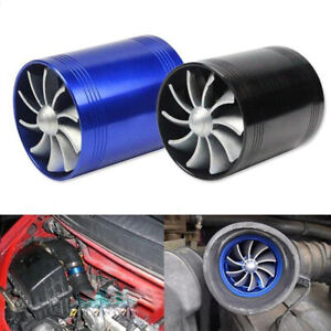 F1 Z Double Turbine Turbo Charger Air Intake Gas Fuel Saver Fan Car Supercharger