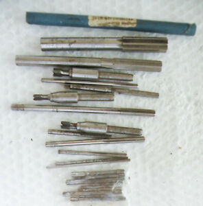 Machine Shop Tools Odd Lot Of Chucking Reamers Used