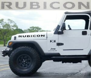 Jeep Rubicon Hood Decals Stickers Graphics Wrangler 2 X23