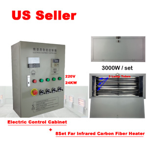 8sets Spray Baking Infrared Ir Paint Heating Lamp With Electric Control Cabinet