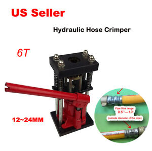 hydraulic Hose Crimper 6t Hand Tool 12 24mm Pipe Newly