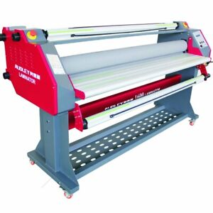 60 Wide Format 2 sided Hot cold Roll Film Sublimation Pneumatic Laminator