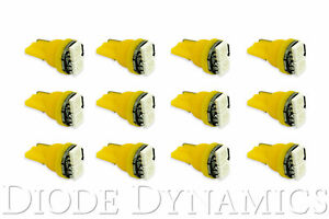 194 Incandescent Bulb Replacement Led Smd2 Led Amber 12pk Diode Dynamics