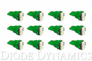 194 Incandescent Bulb Replacement Led Smd2 Led Green 12pk Diode Dynamics