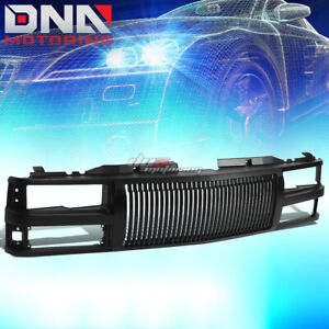 For 94 00 Chevy C10 tahoe blazer Black Front Bumper Upper Vertical Grill Guard