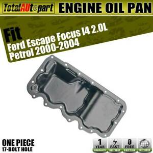 Engine Oil Pan Steel Lower For Ford Focus Escape 2000 2004 L4 2 0l Ys4z 6675 Aa