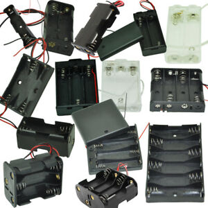 Aa Battery Holder 1x 2x 3x 4x 6x 8x Aa Cells Case Storage Box With Wire Leads