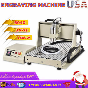 1 5kw 3axis 6040 Router 3d Engraver Metal Wood Milling Drilling Machine Cutter