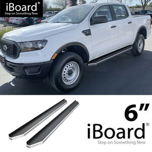 Iboard Polished Running Boards Style Fit 19 20 Ford Ranger Supercrew Cab