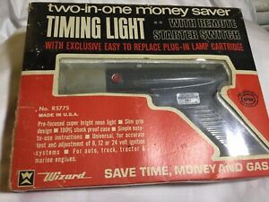 Vintage Timing Light Wizard Western Auto With Remote Starter Switch