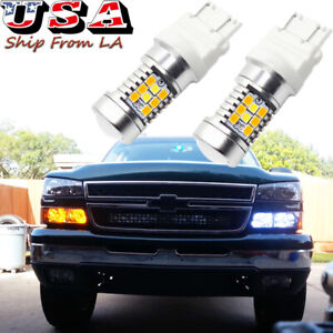 Switchback Led Turn Signal Light Bulbs For Chevy Silverado 1500 1999 2013 3157