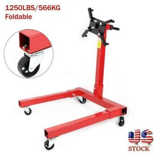 360 Degree 1250lbs Foldable Engine Overturn Stand Hoist Maintenance Support Us