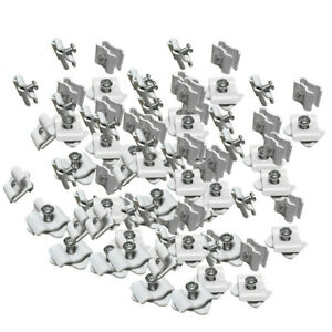 100pc White Wire Grid Connector Clamp Joiner Panel Cube Storage Clipping Snap On