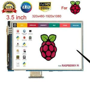 3 5 Lcd Ips Display 1080p Resistive Touch Screen With Case For Raspberry Pi 4b