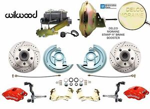 1964 1972 Gm A F X Body Disc Brake Conversion Kit W Wilwood Red Calipers