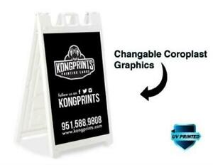 Custom Deluxe Outdoor Folding Sidewalk Sign A frame With Double Sided Print