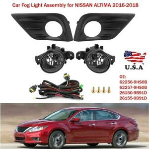 Fog Light Kit For Nissan Altima 2016 2018 Lamps Wiring Harness Switch Bulbs Us