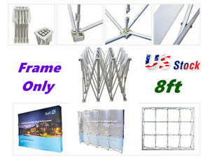 Wholesale 8ft Straight Pop Up Display Backdrop Stand Trade Show Frame Stand Only