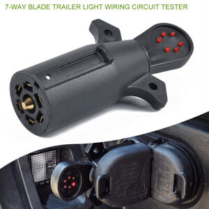 7way Blade Trailer Led Connector Tester Wiring Circuit Hitch Towing Plug For Rv