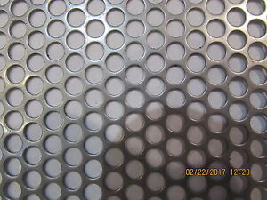 1 4 Holes 16 Gauge 304 Stainless Steel Perforated Sheet 12 X 12