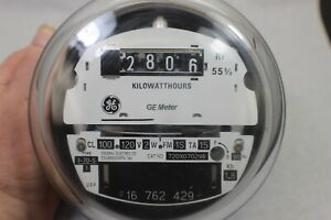 Rare Ge 120 Volt Cl100 E z Read Electric Watthour Meter Kwh I 70s 120v 4 Lug