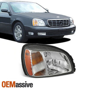 Oe Style For 2000 2005 Cadillac Deville Headlight W Amber Side Passenger Right