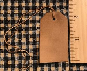 100 Primitive Coffee Stained 2 1 4 X 1 1 4 Punched Tag Hang Tags Price Lot