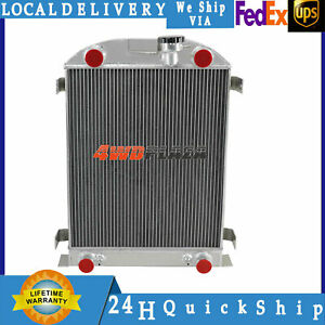 3 Row Aluminum Radiator For 1932 Ford Flathead Engine Stock Height 25 5 Inch 32