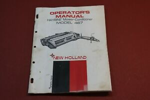 New Holland Model 467 Haybine Mower Conditioner Operator s Manual Implement
