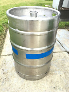 1 2 Barrel Used Empty Beer Keg Stainless Steel 15 5 Gallon Sankey D Tap
