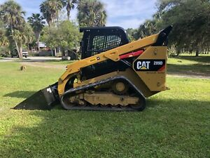 2016 Caterpillar 289d Hi flow Track Skid Steer Cab Ac Cat Diesel Crawler Loader