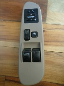 2003 2006 Toyota Tundra 2 Door Master Window Switch Left Front Tan Bezel