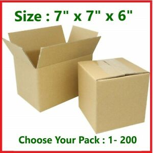 7x7x6 Cardboard Packing Mailing Gift Moving Shipping Boxes Corrugated Box Carton