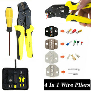 4 In 1 Professional Wire Pliers Crimping Crimper Ratcheting Insulated Tool