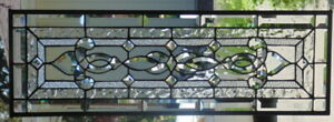 Stained Glass Transom Window Hanging 34 X 12