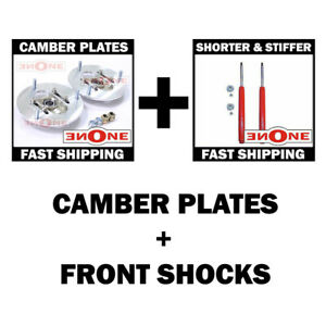 Mookeeh Front Shocks Adjustable Camber Plates Ae86 86 87 Toyota Corolla