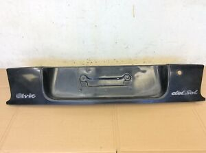 93 97 Delsol Skirt Rear Finish Panel Taillight Bumper Up Cover License Mount Oem