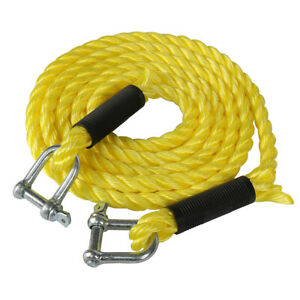 4m 5 Tons Steel Wire Tow Cable Tow Strap Towing Rope With Hooks For Heavy Duty