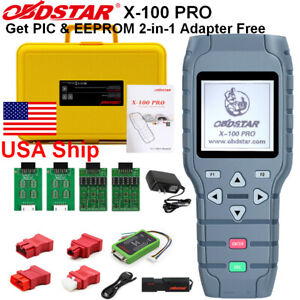 Usa Ship Obdstar X 100 Pro Auto Programmer c d Type For Immo Odo meter Obd Sw