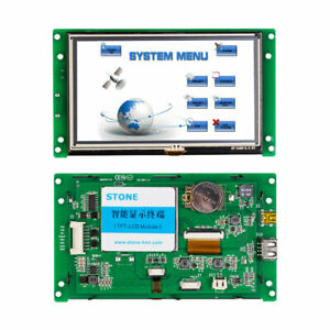 5 0 Inch Industrial Type Touch Screen Controller Lcd With Serial Interface
