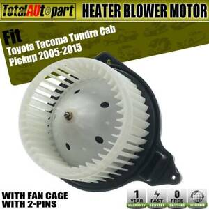 Heated Blower Motor W Fan Cage For Toyota Tacoma 2005 2015 Pickup 87103 04043
