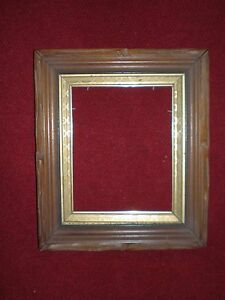 Antique 1800s Carved Deep Well Walnut Frame 10 1 4 X 8 1 4 Opening