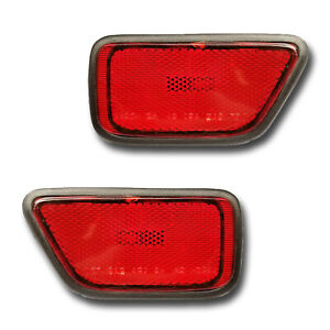 Fits 97 01 Honda Cr V Driver Passenger Rear Bumper Side Marker Light Lamp Pair
