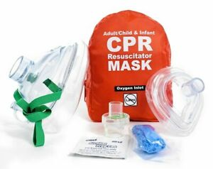Wnl Products Adult child Professional Cpr Rescue Mask Pocket Resuscitator